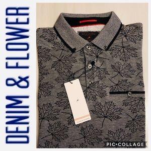 DENIM & FLOWER Polo / Golf Shirt. NWT.